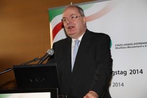Hamms Oberbürgermeister Thomas Hunsteger-Petermann richtet sein Grußwort an die Teilnehmer