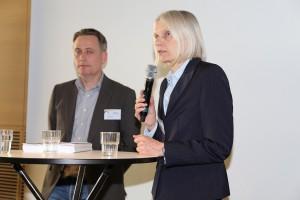 Stefan Thabe und Elisabeth Heitfeld-Hagelgans im Podiumsgespräch