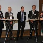 In der zweiten Podiumsrunde diskutieren (v.l.n.r.): Dr. jur. Heinz Janning, Michael Reink, Jörg Lehnerdt, Heinz-Martin Muhle und Thomas Laux