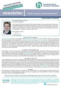 newsletter_SPECIAL Novelliertes Ladenöffnungsgesetz NRW
