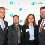 Frank Holland, Jan Kaiser, Bärbel Beck, Fred Schlangen | Jahresempfang der Handelsverbände 2014 | © HV NRW