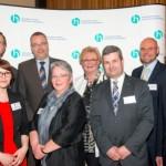 Udo Mett, Anne Linnenbrügger-Schauer, Markus Richter, Karin Eksen, Susanne Brämer, Jörg Hamel, Marc Heistermann, Thomas Kunz | Jahresempfang der Handelsverbände 2014 | © HV NRW